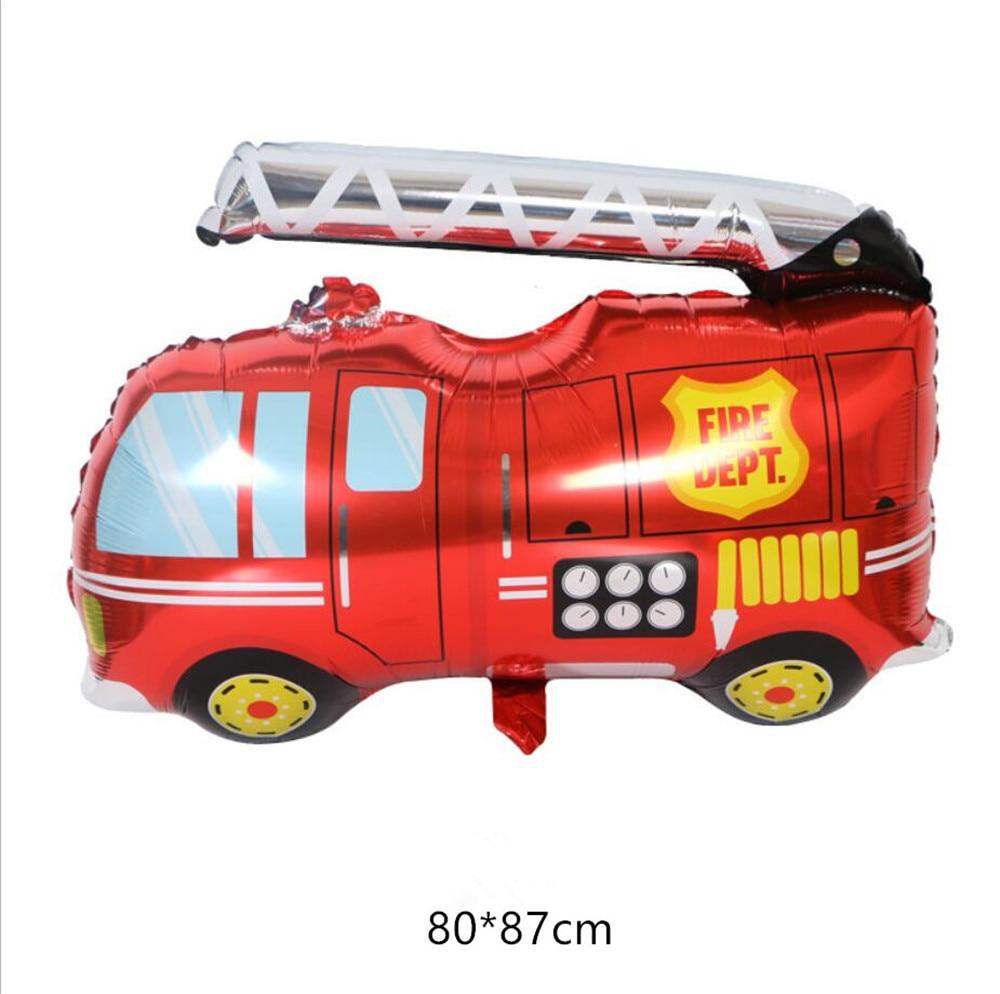 Автомобиль пожарная машина воздушные шары вечерние воздушные шары для вечеринки украшения из фольги шар День Рождения Декор дети мультфильм шляпа - Цвет: 3
