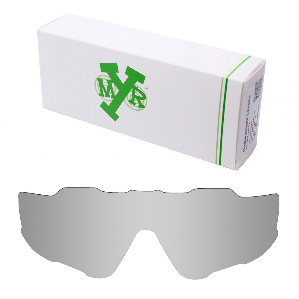 43c03ae01e Mryok POLARIZED Replacement Lenses for Oakley Jawbreaker Sunglasses Silver  Titanium