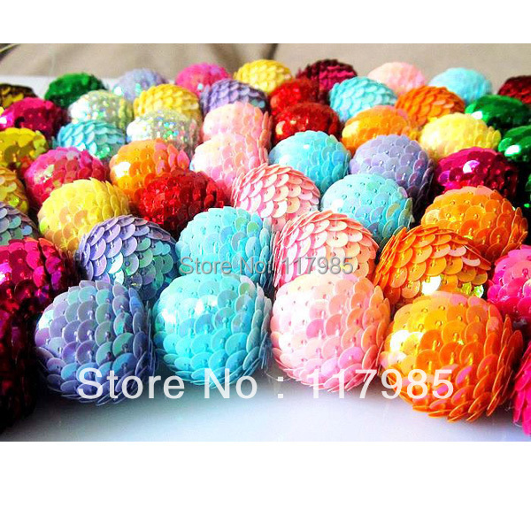 ᓂFree shipping Acrylic Sequin Ball Beads ,100pcs/Lot, 20MM,For ...