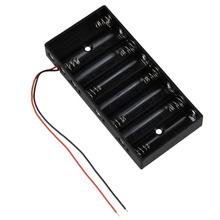MasterFire 50pcs/lot New Black Plastic 1.5V AA 2A CELL Battery Holder Storage Box standard 12V Batteries Case Cover