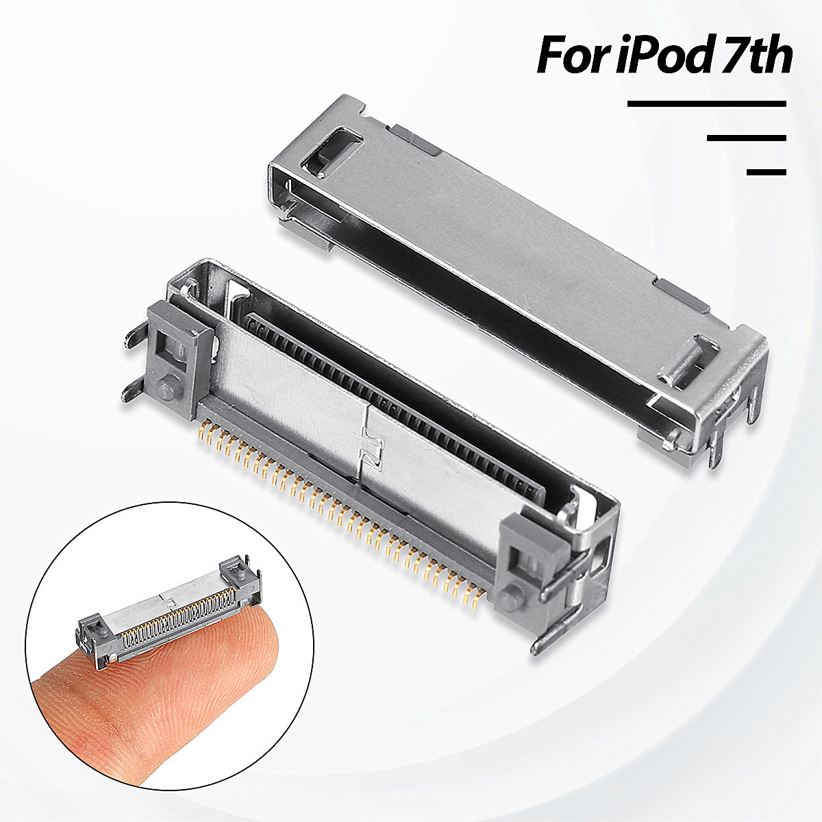 10pcs Bottom Usb Charge Data Dock Port Connector For Ipod 7th Gen Classic 80GB 120GB 160GB wit color eco solvent dx7 print head adapter f189010 f189000 f196000 f196010 printhead cover manifold xenons dx7 head cover