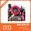 3pcs/set plush car steering wheel cover sets spring fur leather handle sleeves 8 colors for Universal 99% car