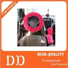 3 шт./компл. плюшевые автомобилей руль обложка устанавливает весна мех кожаная ручка рукава 8 цветов для Универсальный 99% автомобилей