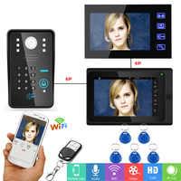 YobangSecurity interphone vidéo 2x7 pouces moniteur Wifi sans fil vidéo porte téléphone sonnette caméra interphone système Android IOS APP