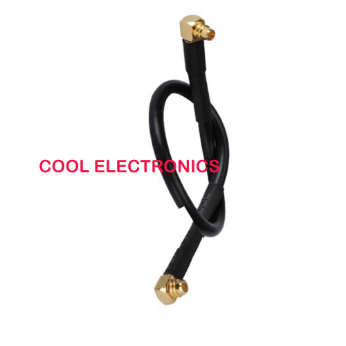 50pcs MMCX male Right Angle to MMCX male plug pigtail cable jumper RG174 50cm for wireless