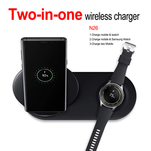 Hot Sale Quickly 2-in-1  Wireless Charger for Apple Watch Samsung Fast Charging Dock iphone 7 8 Plus XS Max XR
