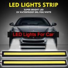 COB LED Strip Car 1pcs 17CM Universal Daytime Running Fog Lamp Driving Light Flexible Bar Waterproof Lights 6W