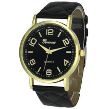 Newly Design Dress Ladies Watches Women Geneva Leather Analog Clock Women Hour Quartz Wrist Watch Montre Femme saat erkekler