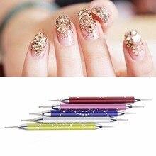 5 Шт. двусторонняя Расставить Pen Liner С Блеском Живописи Маникюр Nail Art