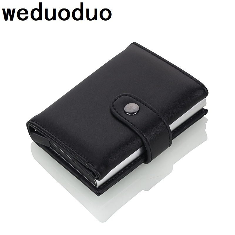 Weduoduo 2019 High Quality PU Leather Credit Card Holder RFID Card Holder RFID New Design Bank Card Cases Business Card Pocket-in Card & ID Holders from Luggage & Bags