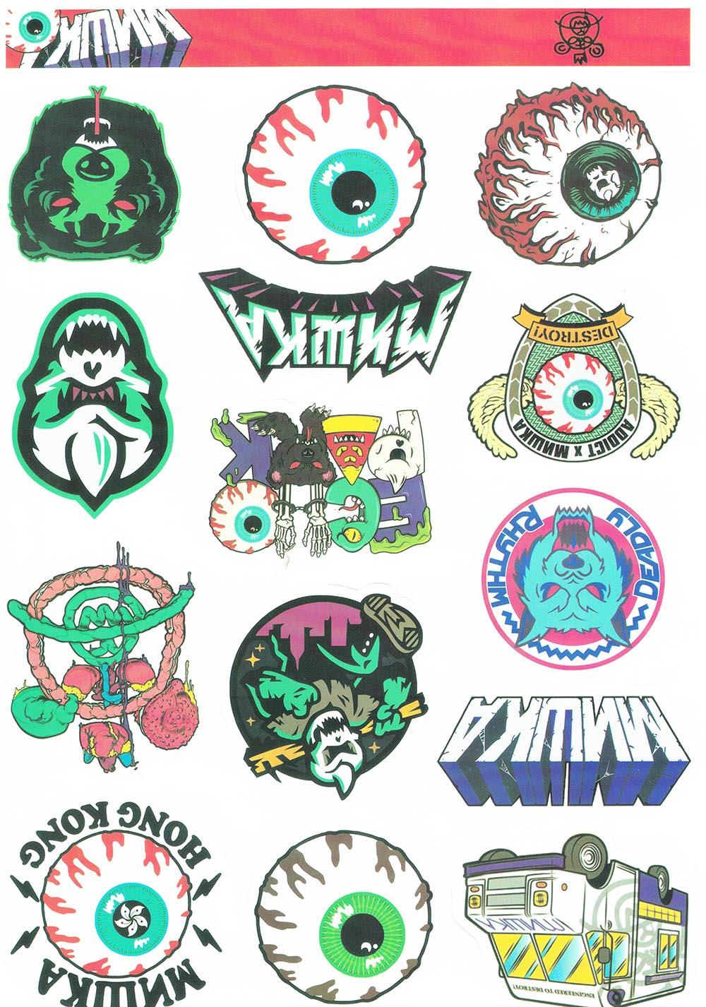 Hiphop Style Eye Pattern PVC Waterproof Laptop Phone Stickers For Tablet Macbook Pro Iphone Ipad Sticker