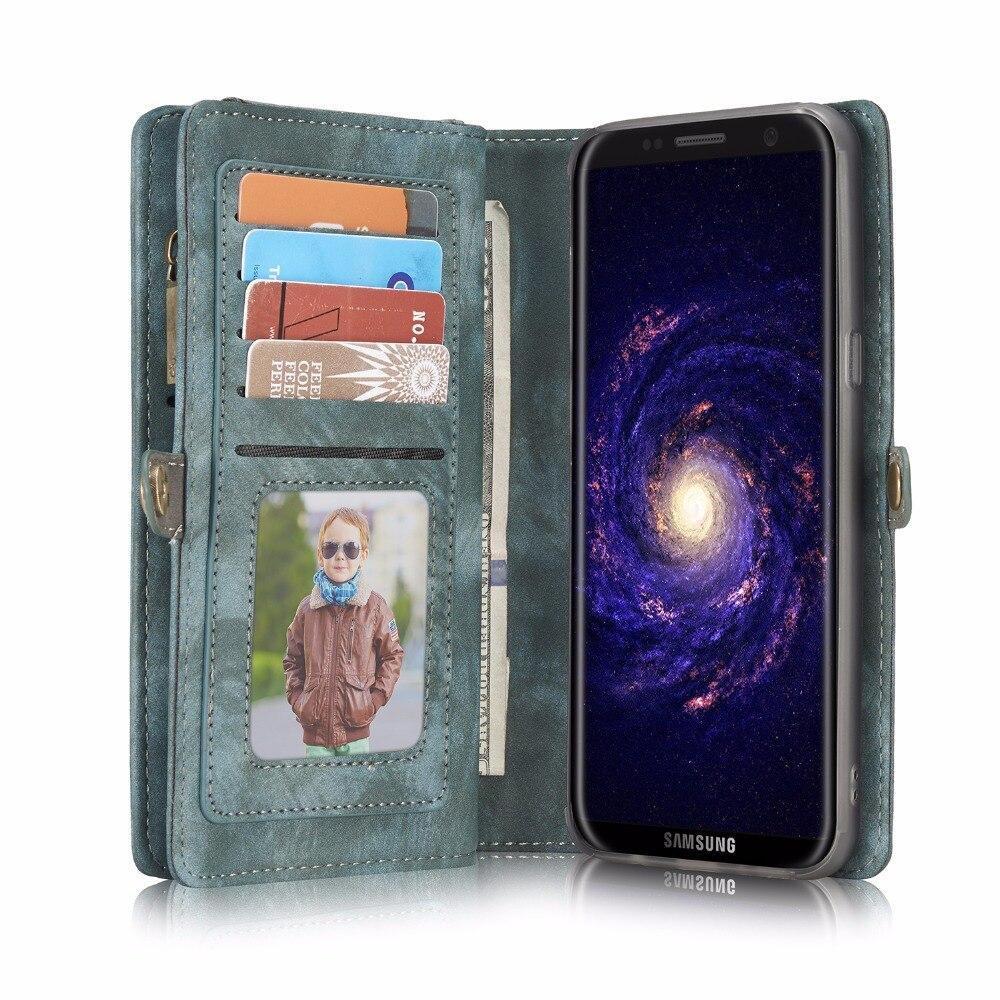 imágenes para Caseme bolsas móvil casos cubierta de cuero del tirón de la carpeta del tirón de lujo de cuero coque para samsung galaxy s7 edge s 7 s7edge case s8 cubierta