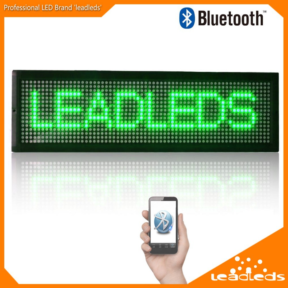 21 X 6.3 Green Bluetoth LED Sign Scrolling Message Board Programmable by Mobile phone APP LED Display Outdoor Lighting 100 pcs ld 3361ag 3 digit 0 36 green 7 segment led display common cathode