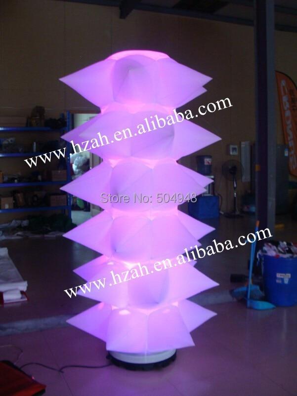 Iluminación de la decoración de la torre con púas inflables