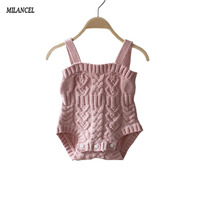 2017 New Style Baby Bunny Rompers Baby Girls Clothes Knitted Baby Bodysuit Romper Newborn Jumpsuits Ropa