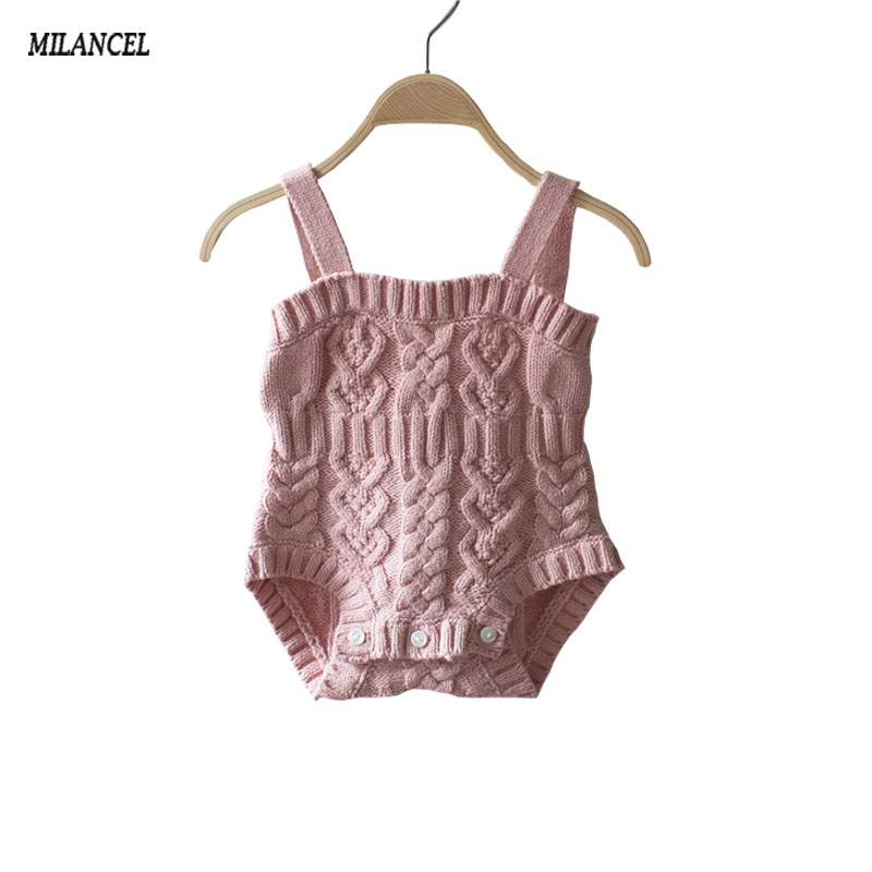 2017 New Style Baby Bunny Rompers Baby Girls Knitted Baby Jumpsuit Newborn Clothing Ropa Bebes Baby Boy Clothes autumn baby rompers brand ropa bebe autumn newborn babies infantial 0 12 m baby girls boy clothes jumpsuit romper baby clothing