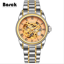 Bosck hommes de mécanique montres ceintures d'affaires montres de luxe mode montre relogio masculino erkek kol saati montre homme reloj