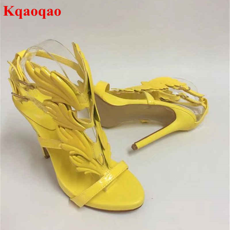 Peep Toe Women Sandals Sexy High Thin Heel Flame Leaves Decor Luxury Brand Design Zapatos Mujer Fashion Super Star Runway Shoes binoculars telescopes metal hd light night vision non infrared army pocket profissional telescope page 1