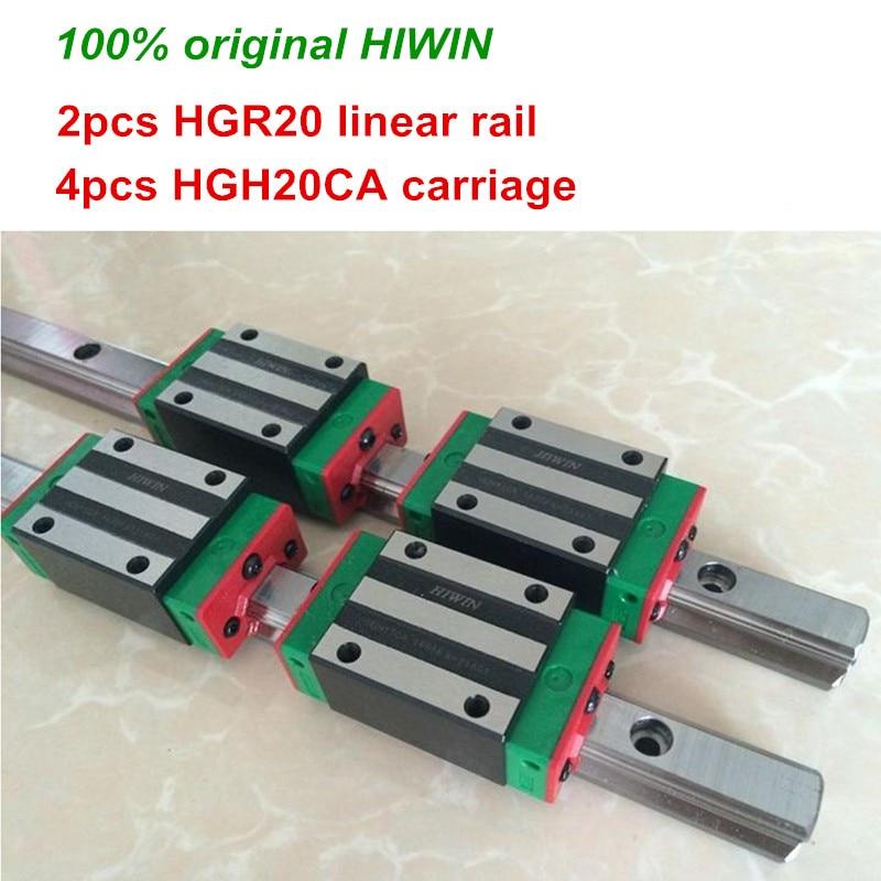 100 original HIWIN 2pcs HGR20 200mm 300mm 400mm 500mm 600mm 700mm 800mm 1000mm Linear Guide rail