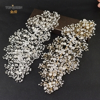 TOPQUEEN HP240 two colors Wedding bride headband Handmade Wedding Hair Accessories Rhinestone wedding crown for party