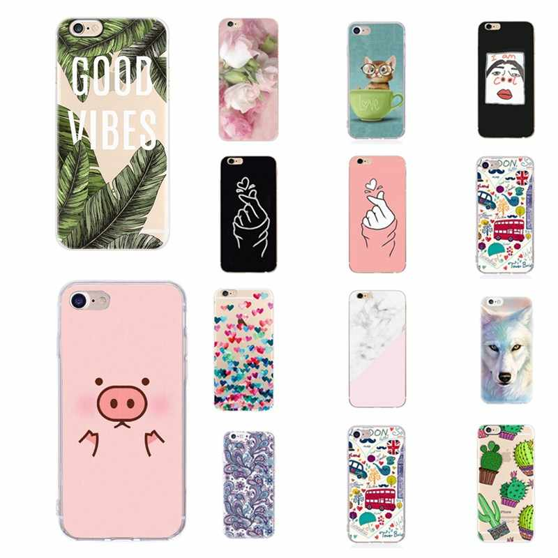 Carcasa Telefoon Case Voor iPhone 6 6 s 7 8 Plus X XS Capinha para Funda Luxe Soft TPU Back cases Voor iPhone 5 s 5 SE Cover Conque