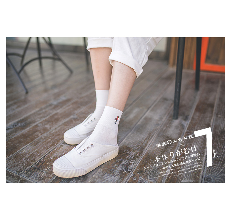 Foot 22-25cm Embroidery Birds Socks Beautiful Swan Penguin Flamingo Toucan Wing Seagull Dove Crane Duck Duckling Stripes NADROP HTB18cKFRpXXXXbWapXXq6xXFXXXA