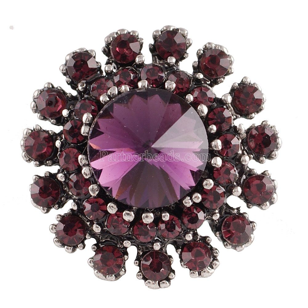 Hot wholesale High Quality 20mm Fashion Snap buckle Bracelet Charm Rhinestone Styles buckle Partnerbeads Snaps Jewelry  KC7164