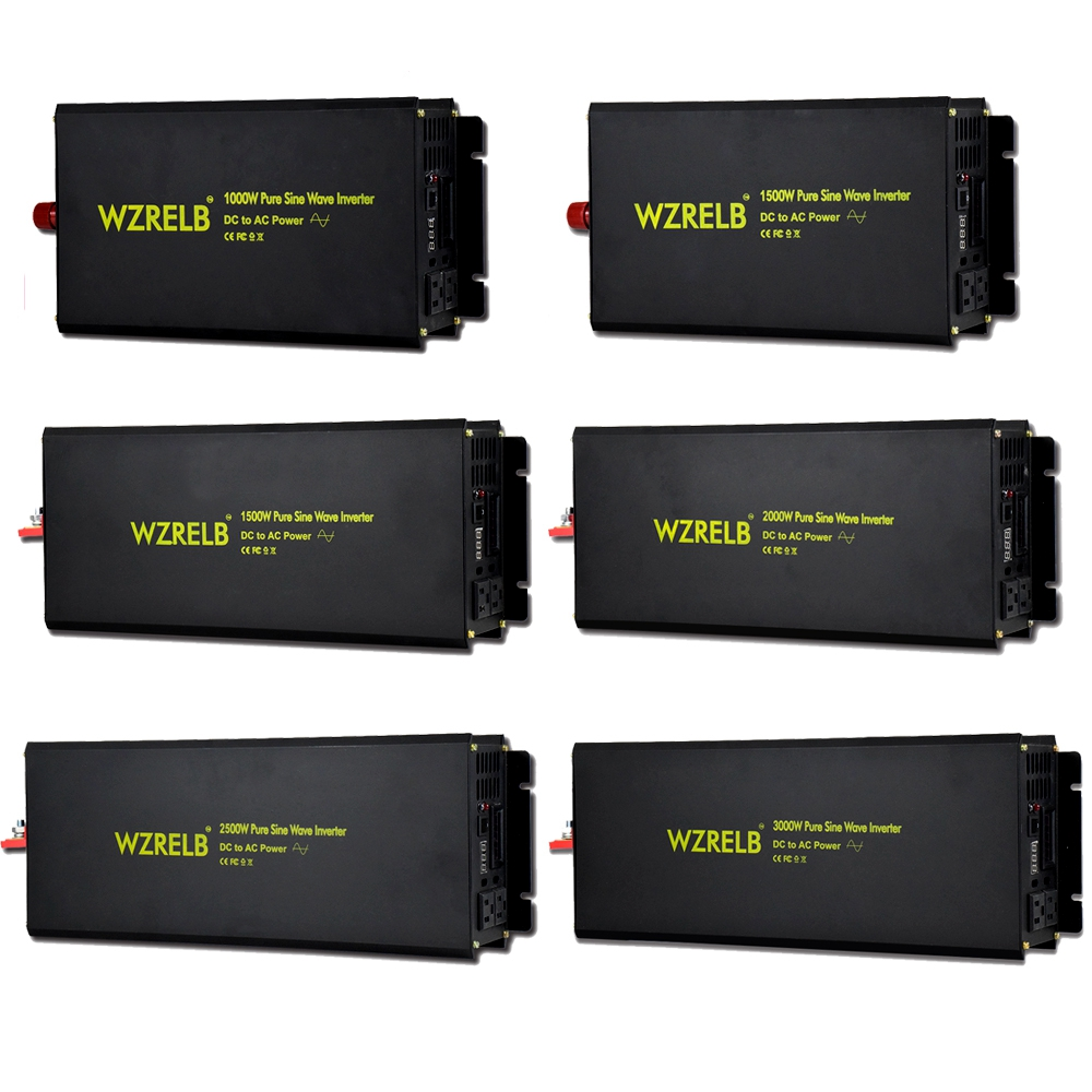 1000w 1500w 2000w 2500w 3000w Pure Sine Wave Power Inverter Solar Off grid Battery Charger Controller LED display Car