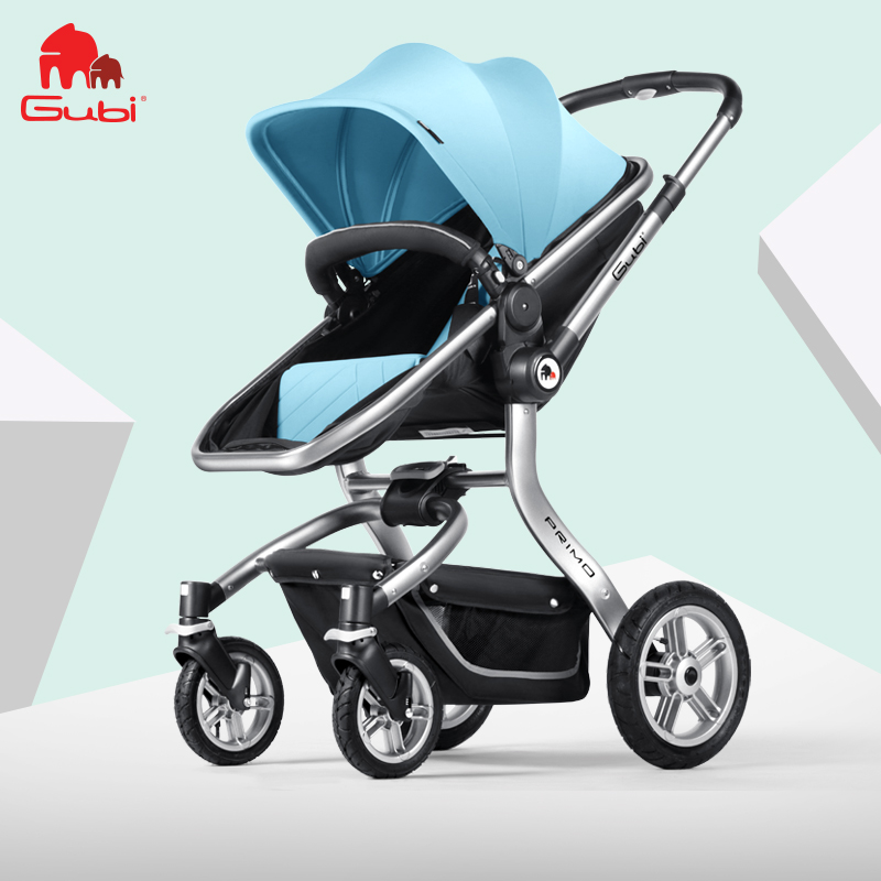 Gubi Baby Stroller Can Sit On The Flat with High Landscape Folding Umbrella Car