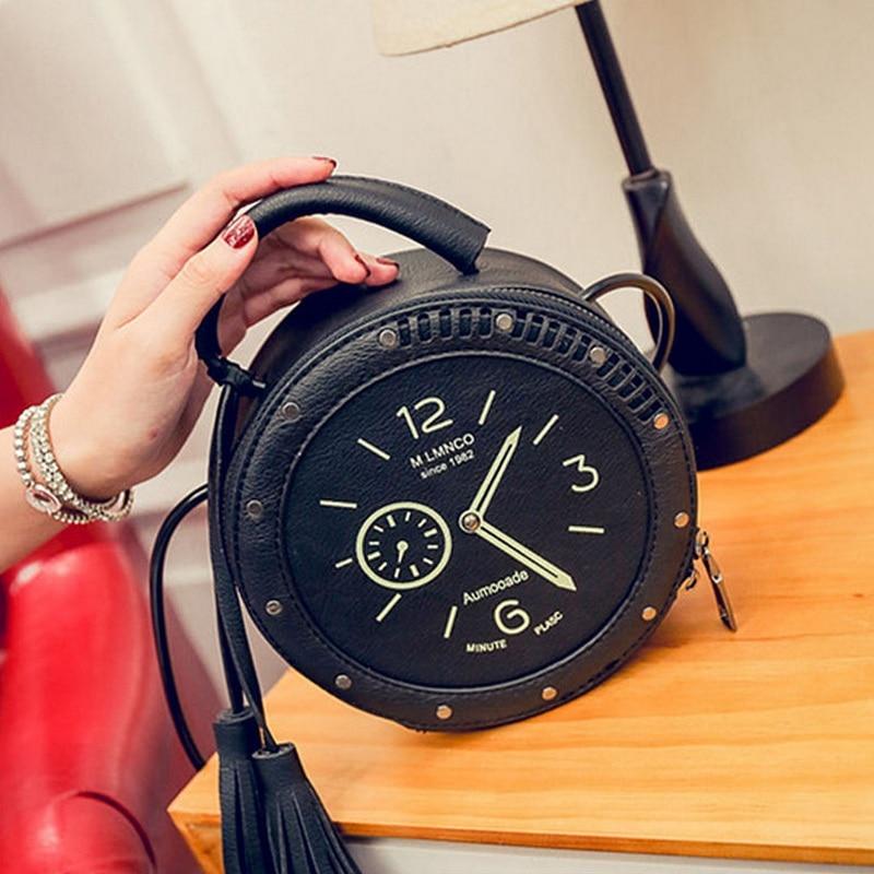 Bolso circular de cuero de las mujeres de la PU de las muchachas - Bolsos - foto 4