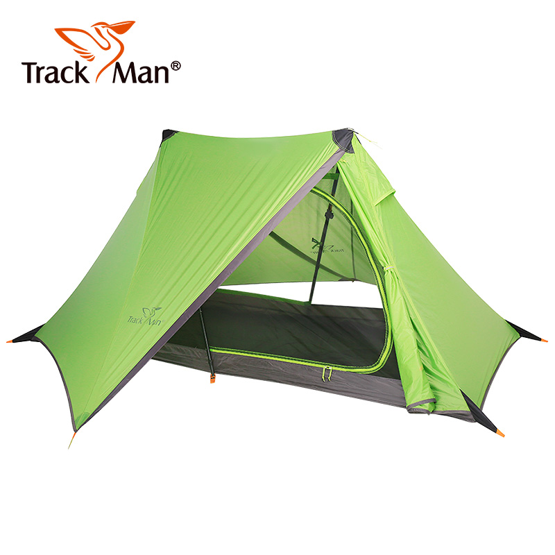 1 person Outdoor camping tents 940g no pole tent lightweight alpine rodless tent riding Double layer silicone hiking tents oklick 940g