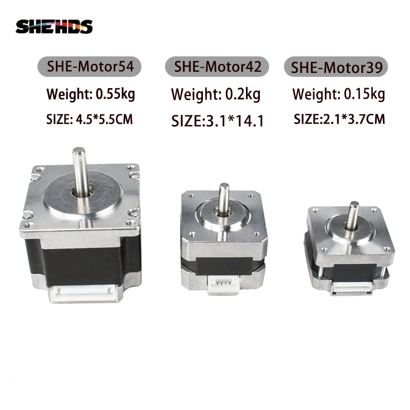SHEHDS Stepper Motor XY Axis Pan Tilt Sharp Accessories Motor For Professional Moving Head Stage  Lighting Free Shipping