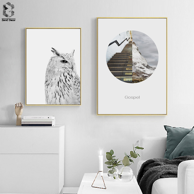 Nordic Canvas Prints and Posters Wall Art Eagle Wall Pictures Symbol u0026 for Home Decoration & Nordic Canvas Prints and Posters Wall Art Eagle Wall Pictures Symbol ...