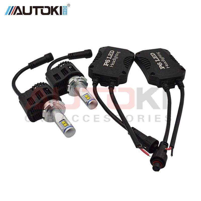 Autoki H4 H7 H11 9005 9006 9012 5202 9004 9007 H13 110W 10400LM P6 Car LED Headlight Kit Bulbs High Power Auto LED Headlamp Bulb