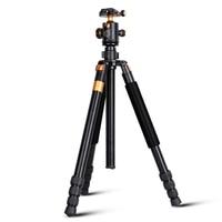 Q968 алюминиевый штатив для цифровой камеры для путешествий 1670 мм видео и цифровая зеркальная камера штатив монопод 15 кг нагрузка аксессуары