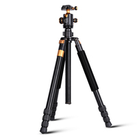 Q968 Aluminum travel digital camera tripod stand 1670mm video & DSLR photography tripod monopod 15KG bearing camera accessory