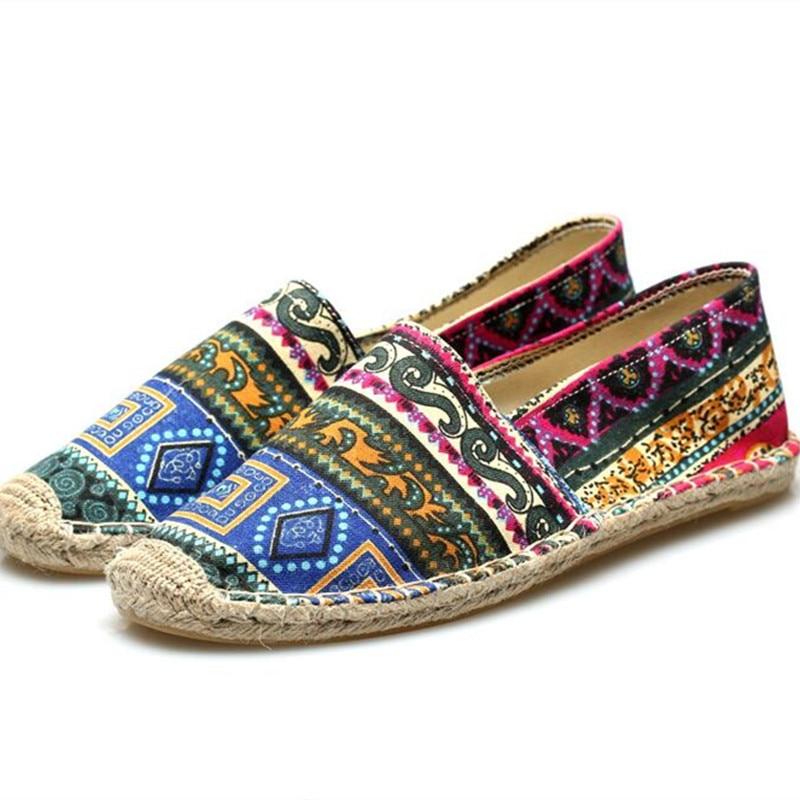 Alpargatas Zapatos de Lona de verano Las Mujeres y Los Hombres de Los Holgazanes Pisos 2016