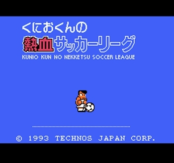Kunio Kun No Nekketsu Soccer League Region Free 60 Pin 8Bit Game Card For Subor Game Players image