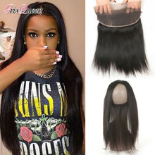 Brazilian Virgin Hair Straight 360 Lace Frontal Closure With Baby Hair Straight Hair Natural Hairline Lace Frontal Closure 360