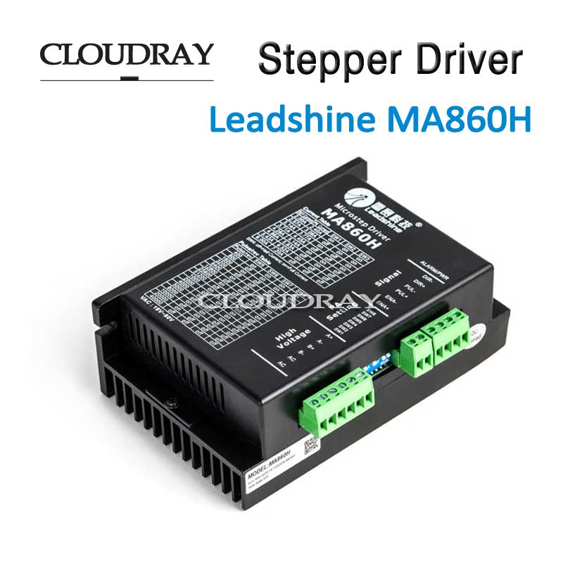 Cloudray Stepper Motor Driver Max 80VAC or +110VDC 7.2A Leadshine DC Motor Driver Controller MA860H cloudray stepper motor driver 2 leadshine phase dc motor driver controller for 20 50 vdc 1 0 4 2a cnc router kits drive dm542