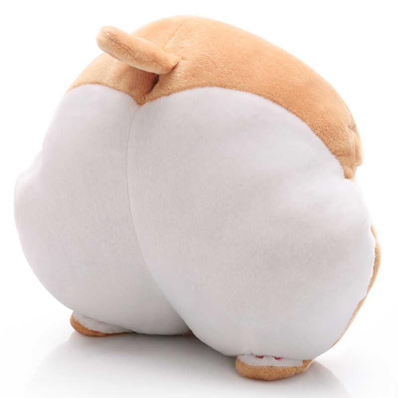 Зимний теплый 3 в 1 корги собака попка Подушка с фланелевым одеялом плюшевый корги попка рука вамер мягкая корги попка подушка милый подарок для домашних животных