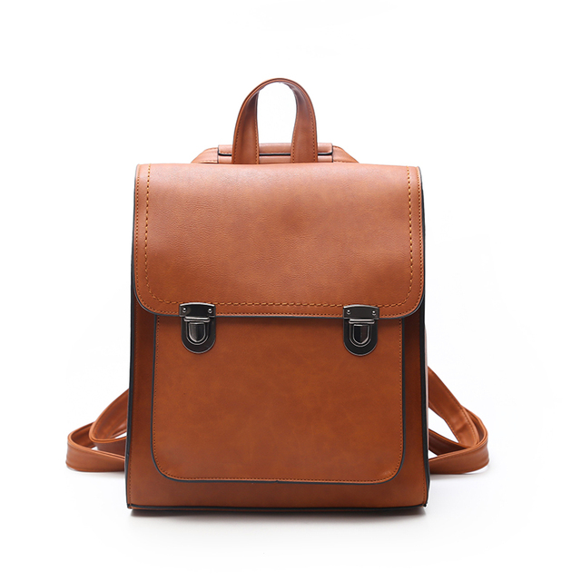 2017 New Fashion Women Backpack PU Leather Girls School bag Women Casual Style Shoulder Bag Backpack For Girls Backpack