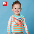 baby boys t shirts dinosaur print striped kids t-shirts toddler boys clothes size 1-3t 2016 spring baby clothing