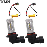 WLJH 2x 80W H8 H11 LED Car Fog Lamp Light Driving Bulbs+Canbus No Error Resistor Decoder for BMW E71 X6 M E70 X5 X3 E83 F25