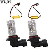 WLJH 2x 80W H8 H11 LED Car Fog Lamp Light Driving Bulbs Canbus No Error Resistor
