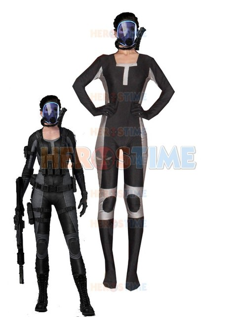 Cool Resident Evil Lupo Superhero Costume Spandex Zentai Suit Costumes Online