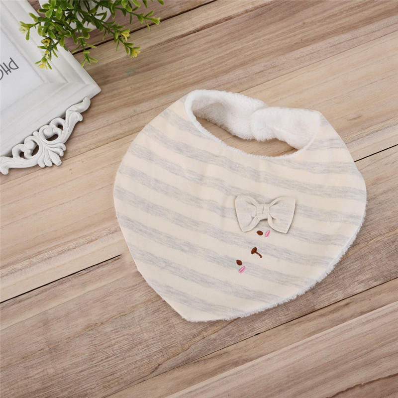 Newborn Baby Bibs Cotton Towel Triangel Print Bandana Toddler Scarf Baberos Bebes Infant Burp Cloth 3-24M Random Color