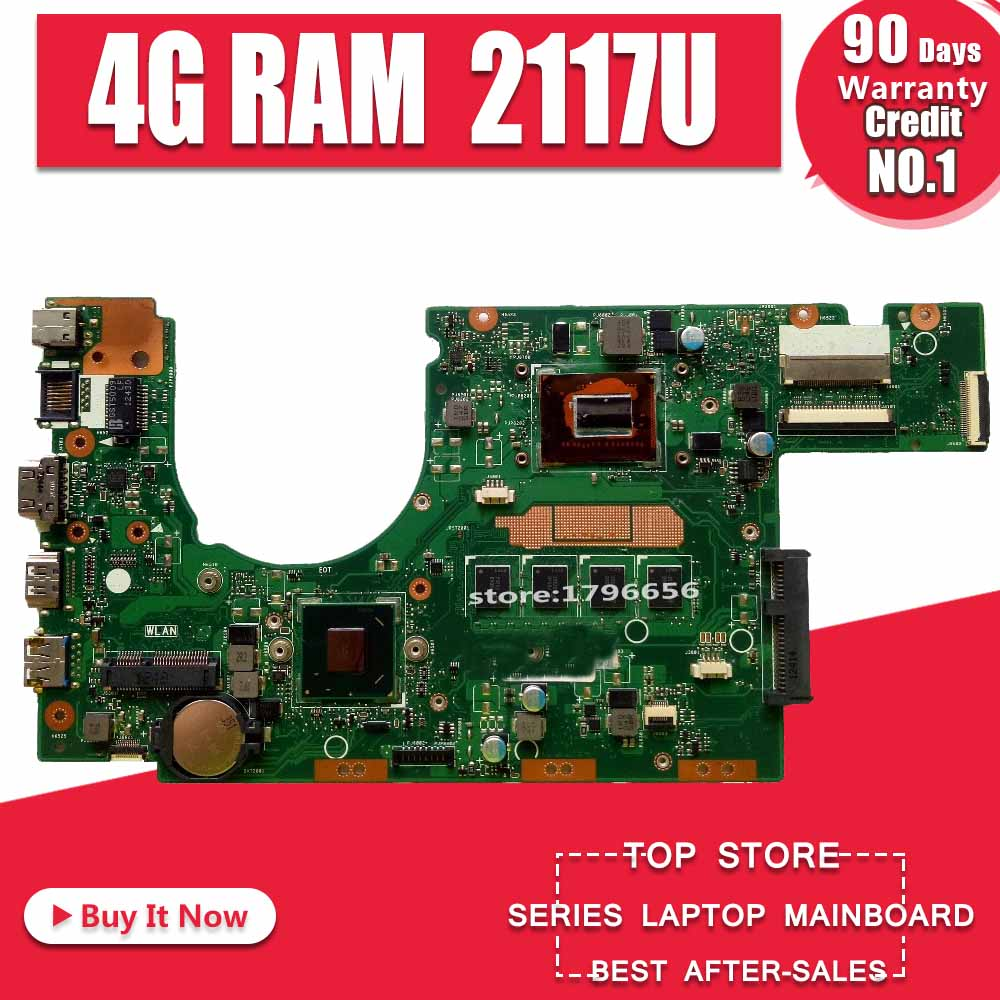S300CA Laptop Motherboard 4G RAM 2117 CPU For ASUS S300CA S300C S300 Test Mainboard S300CA  Motherboard Test 100% Ok