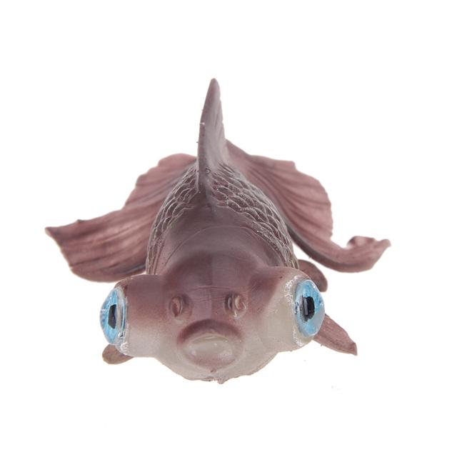 3 Colors Artificial Silicone Swim Toy Fish Fishing Tank Aquarium Ornaments