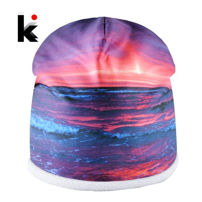 Unisex Winter Hats For Men Warm 3D Printing   Skullies     Beanies   Women Outdoor Casual Caps Couple New Fashion Hat Warm Thick Bonnet
